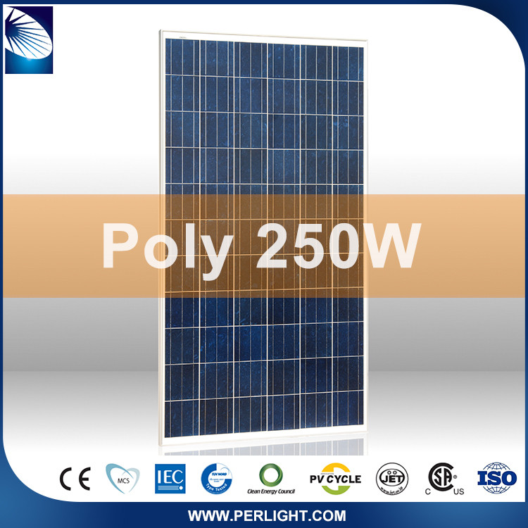 Factory Direct Sales 4Bb Poly Crystalline 250W 260 Watt Photovoltaic Solar Panel
