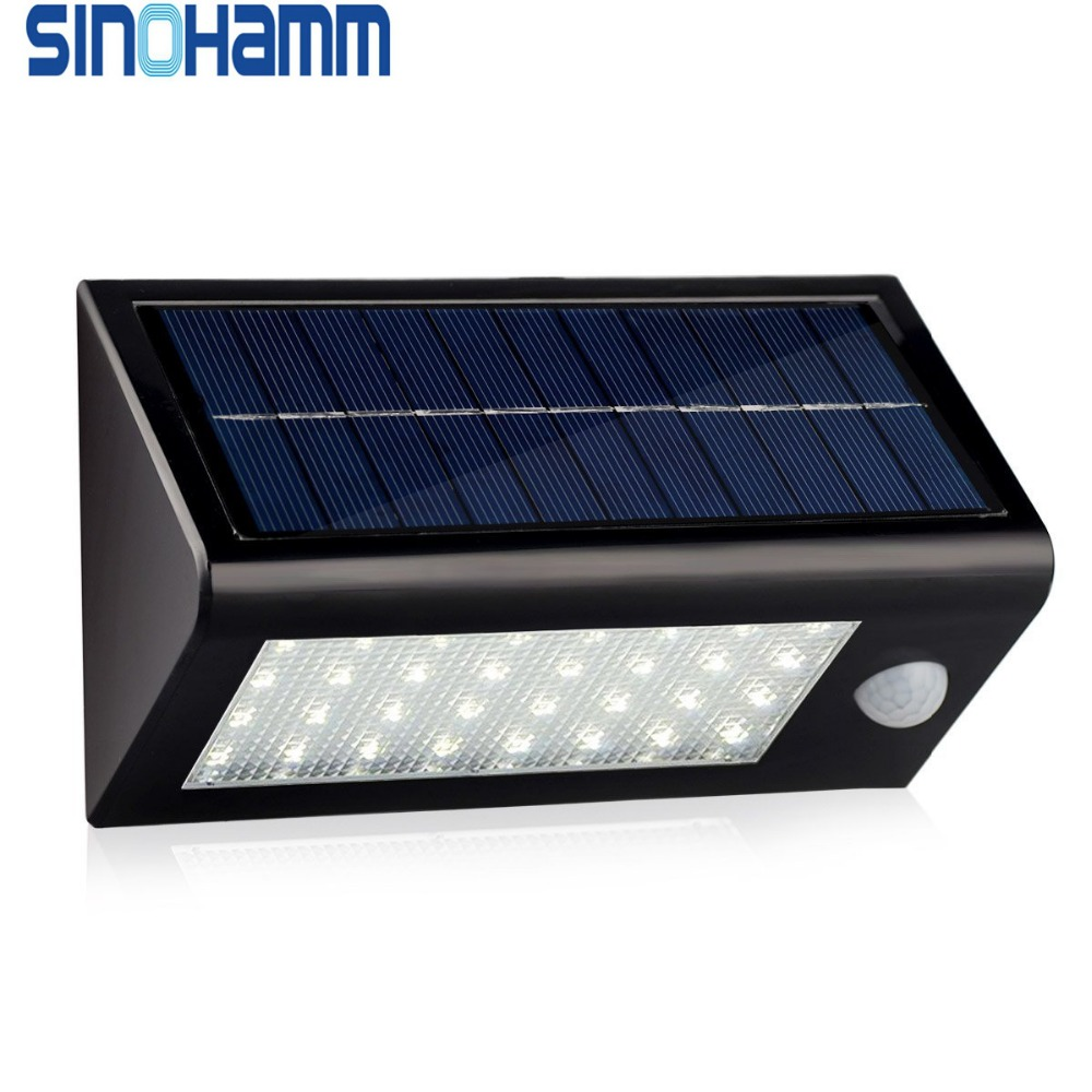 Solar Lights,400 Lumens Solar Powered Motion Sensor Light,32 LED Rechargeable Waterproof Outdoor Wireless Wall/Step/Porch