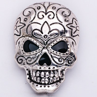 High Quality Punk Style Enamel Skull