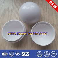 Half round plastic ball with white colour