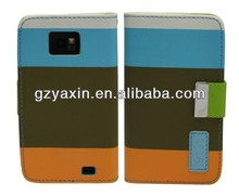 pu leather case for samsung galaxy s2 i9100,wallet leather case for samsung galaxy s2 i9100