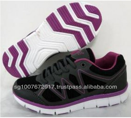 Black Color Designed Mesh Sports Shoes
