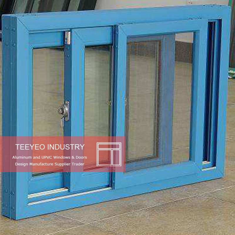 Teeyeo China factory European Style Sliding Brown PVC Windows