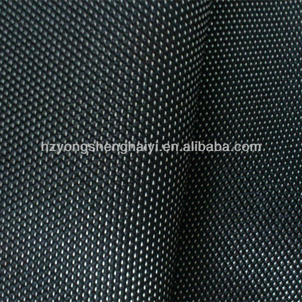 FDY 600d two tone organza fabric black white fabric with pu coating