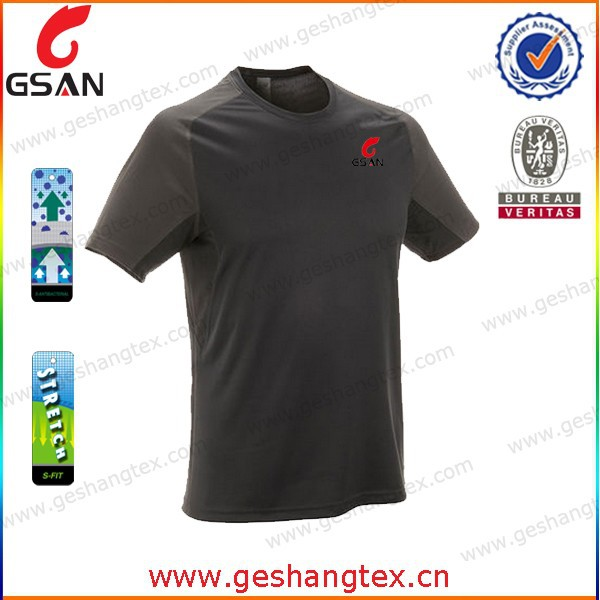 Custom printed 100%polyester workout Tshirt