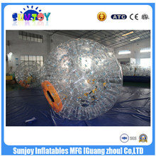 SUNJOY 2016 new designed inflatable pvc beach ball, roll inside inflatable ball, sports ball for sale
