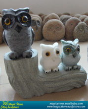 Folk Art marble stone animal figurines