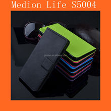 With Cards Slots Leaher Case Medion Life S5004 Case