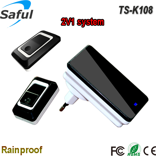 Saful Easy operation battery plug support rainproof long range wireless doorbell