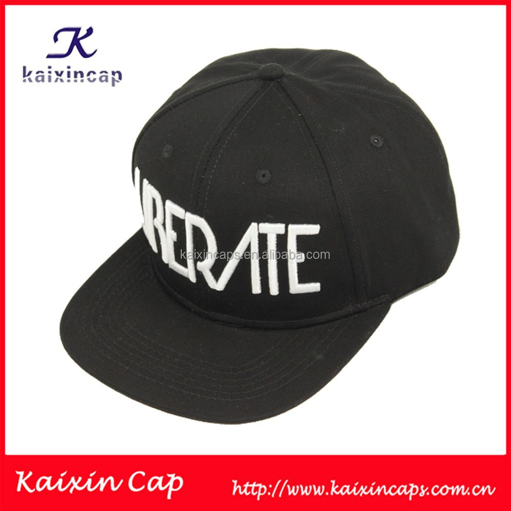 Custom snapback hat with real leather strap back closure