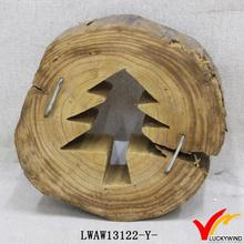 fuzhou vintage natural tree shape cut out wood craft mini