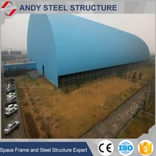 Industrial used metal coal storage sheds with space frame structure