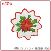Decorative Snowflake dishes, Christmas printed melamine party tray