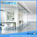 Elegant classical sound insulation glass partition wall need to office
