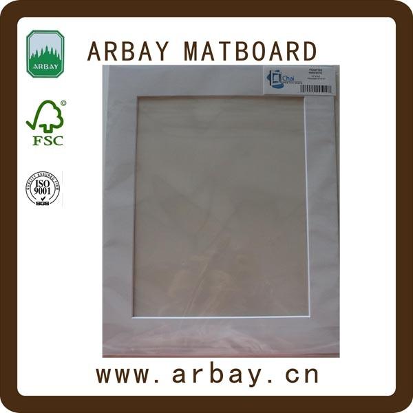 Wholesale 2.0mm cream core precut white paper photo frame design