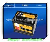 Maintenance-free lead-acid batteries 12v65ah high capacity car battery