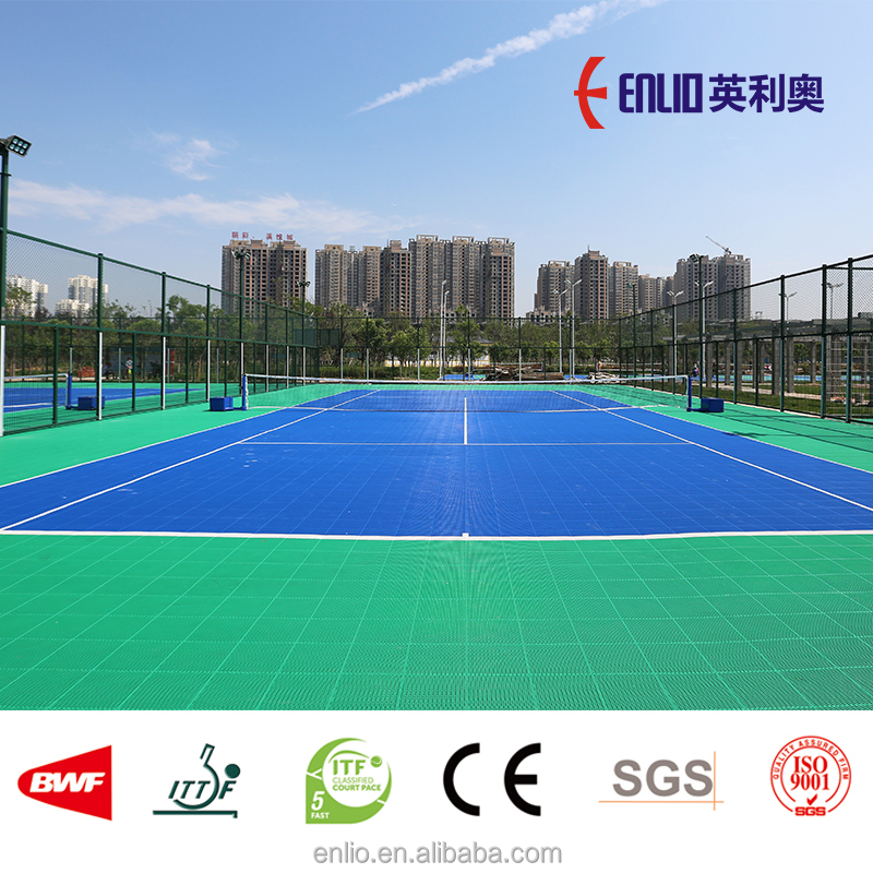 ITF Tennis outdoor interlocking flooring