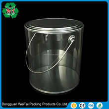 clear plastic bucket with lid