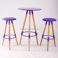 3 legs leisure bar table, colored MDF top bar table