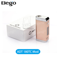 ADT 180 WATT,ADT 180W, ADT180, 180 W,ADT-180TC temperature control box mod support usb charging and Ni Ti PT coil from Elego