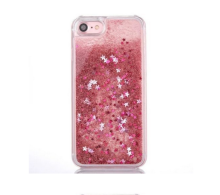 2018 New product love heart stars quicksand liquid glitter cell phone case for iphone 6s/7/7 plus/x