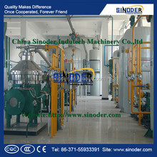 Sinoder Supplying 100TPD Refined Rice Bran Oil Making Line,cold press oil machine