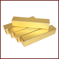 golden paper box packaging with matt lamination and stamping