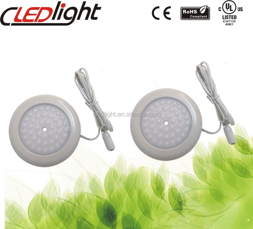 3W Remote LED Puck Cabinet Light with ul