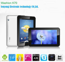 dual camera 7 inch A20 tablets dual core wifi hdmi