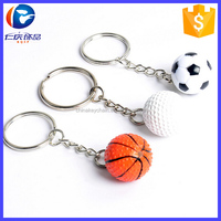 Sport style ball keychain rotate golf basketball football baseball key chain