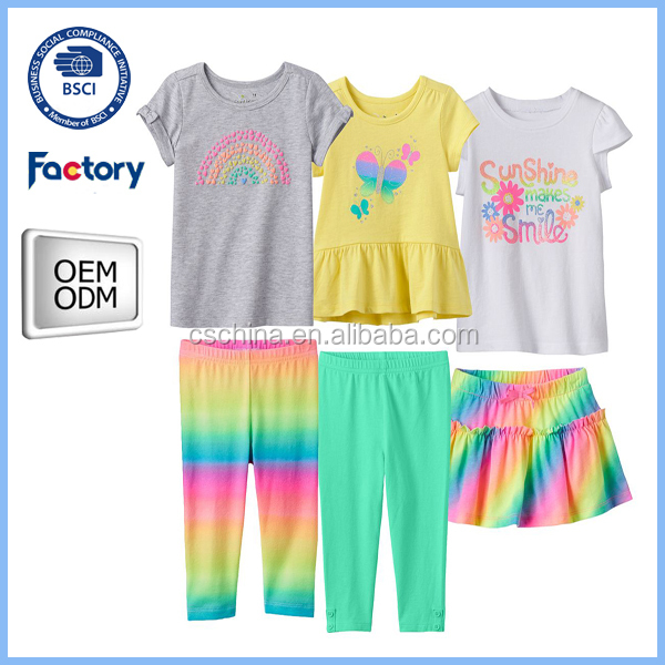 Wholesale baby girl clothing sets boutique Summer teen girl clothing set