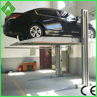 Smart auto hydraulic home vertical two post parking car lift