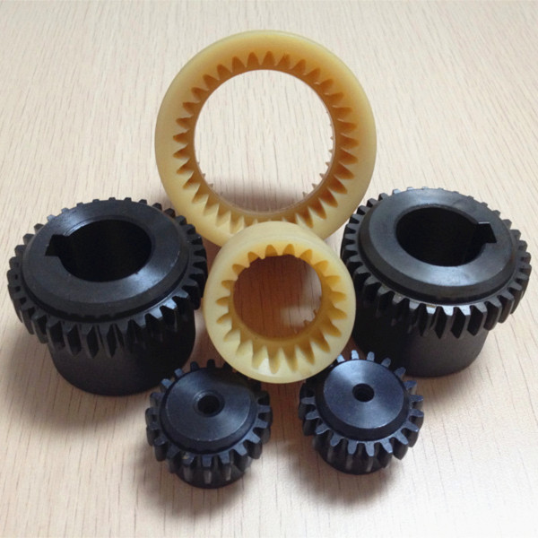 Bowex curved-tooth nylon gear coupling