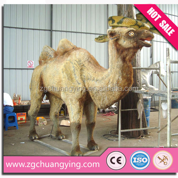 The desert camel statues life size animal replica