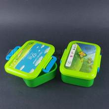 New Cute Kids Bento Plastic Lunch Box with lock, plastic tiffin lunch box