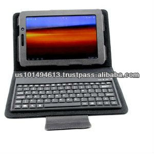 "Slimbook PU Leather Bluetooth Keyboard and Protective Case for Samsung Galaxy Tab 7.7"" Plus P6800 P6810 - Black -"