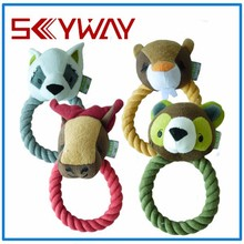 Dog chew rope toy/dog toy squeakers wholesale