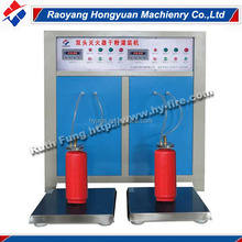 Dual-chamber feeding higher accuracy automatic fire extinguisher dry powder refilling machine