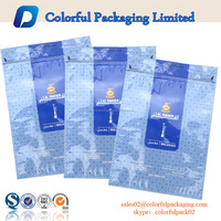 2016 factory price empty 250g or 1kg plastic tobacco ziplock packaging bag with tear made in China
