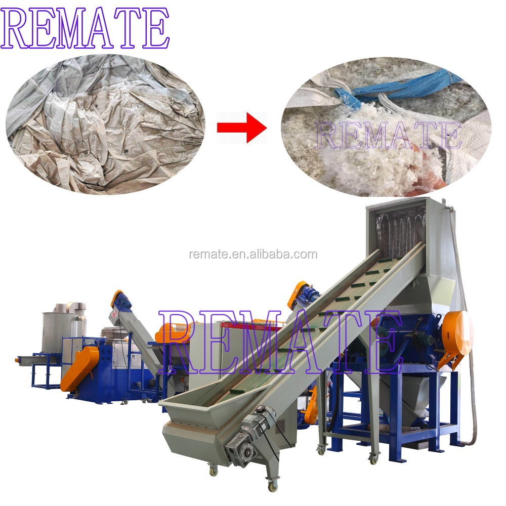 Crushing cleaning drying line PE agriculture film PP woven bag plastic film recycling machine