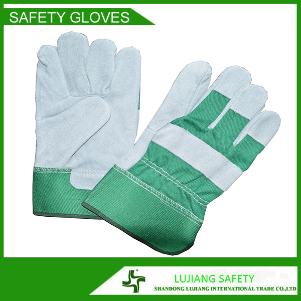 LUJIANG Hot Selling wing thumb cow split leather Double Palm Welding Working Gloves
