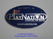 Hot Sale Metal Embossed Logo Aluminum Label with Brushed Crafts