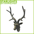 Wall mounted artificial deer head hanging wall decoration