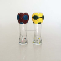 Beer Cup Glass with football shape for European Cup