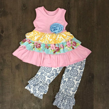 Newest back to school boutique outfits little girls boutique remake clothing sets cute remake summer outfit