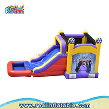 Popular inflatable bouncy / jumping castles with slide,amusement park inflatable bouncer combo