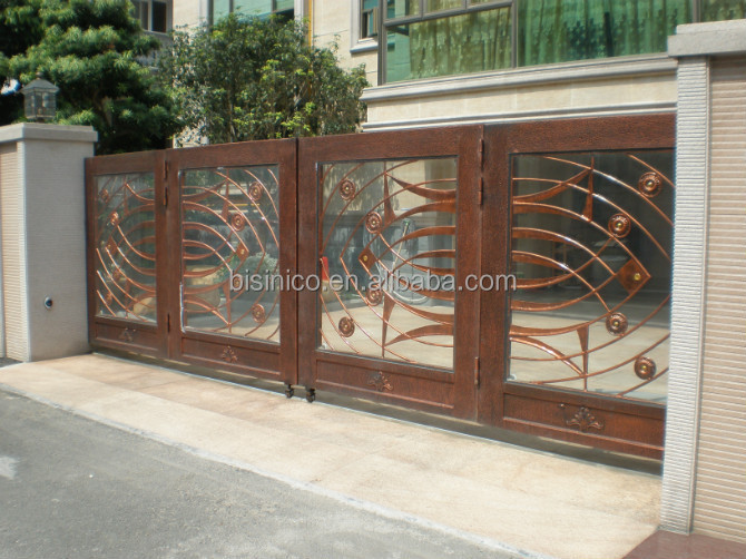 bisini luxury sliding design gate sliding house main gate