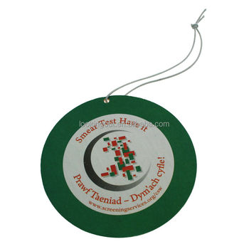 2018 round promotional brand customizable air freshener