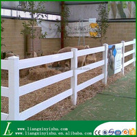 Plastic white pvc fence horse stable fence with factory price