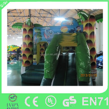 Jungle theme kids air bouncer inflatable trampoline